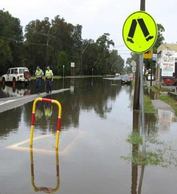 Flooding of Warriewood Square